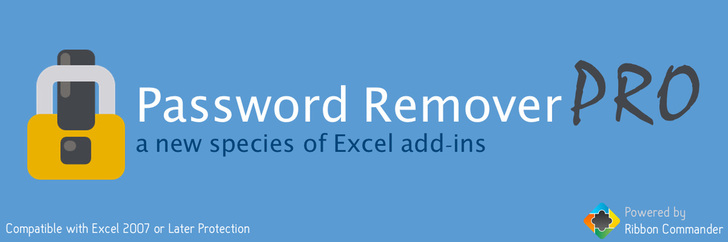 Password Remover Pro Excel addin