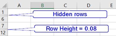 idden Rows in Unprotected Worksheets
