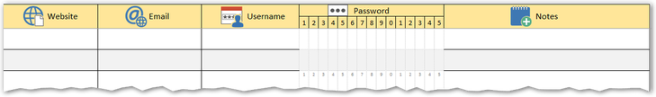 FREE printable password log worksheet