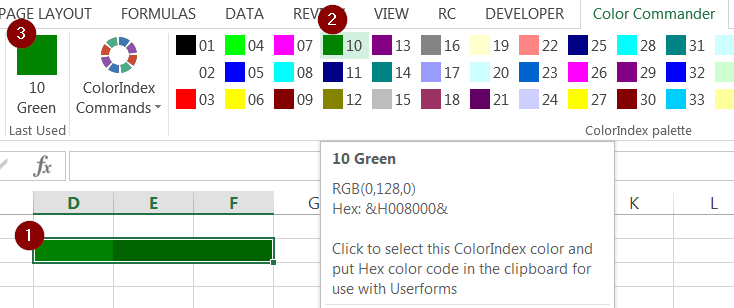 Excel Vba Autoshape Color - Determining The ActiveShape On
