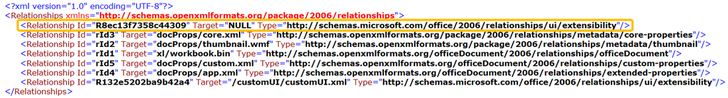 Multiple custom UI parts were found in the file. Only one part is expected XML