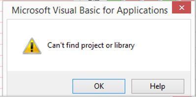 Can't find project or library