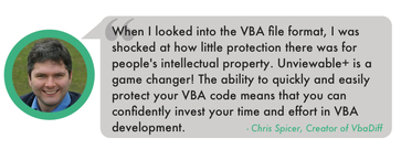 Testimonial for Project is Unviewable+ VBA for Excel, PowerPoint & Word