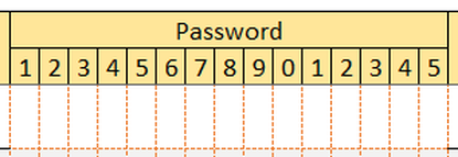 FREE Printable Password Log Excel Template