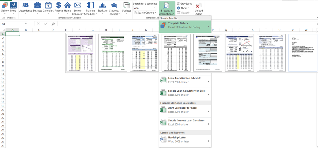 vertex42 template gallery excel addin powered by ribbon commander