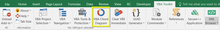 VBA Toolkit Excel Add-in powered by Ribbon Commander