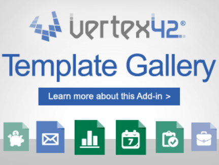 Vertex42 template gallery Excel VB Add-in