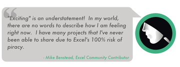 Testimonial for Project is Unviewable+ VBA for Excel