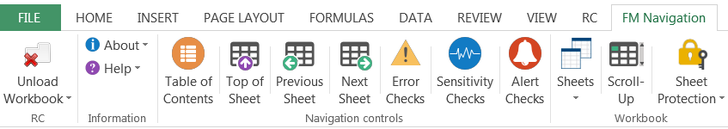 Financial Model Navigation Excel Add-in