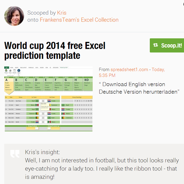 World Cup 2014 Free Excel Prediction Template Spreadsheet1 | MotoGP 2017 Info, Video, Points Table