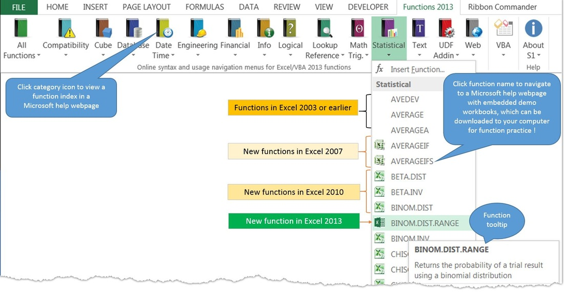 Excel 2013 translated functions free Addins