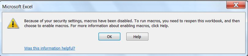 How to enable macros in excel disabled macros warning ccuart Gallery
