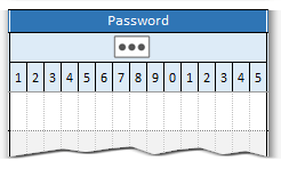 Printable password manager log template detail