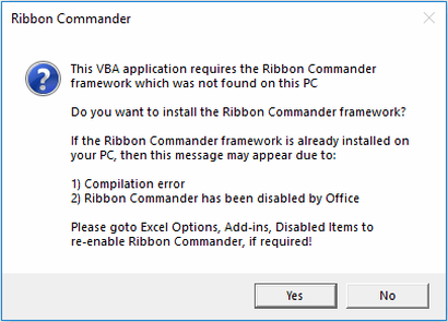 How to troubleshoot Ribbon Commander