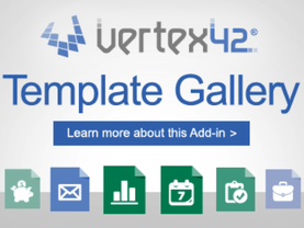 Vertex42 template gallery Excel VBA Add-in