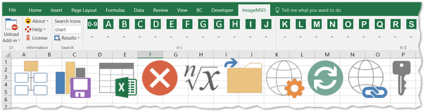 Office Excel Ribbon imageMso icons gallery page 01